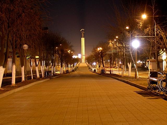 Ночной Киров - светильники